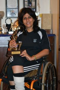 Paraplegic Deepa Malik, 43, from Delhi is a successful athlete and motorcyclist.