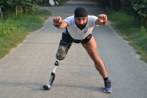 "Devender Pal Singh, 39, dubbed as India's ""blade runner."""