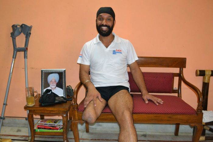 Refusing to be overcome by the challenges of losing a limb, Devender Pal Singh, 39, became a marathon runner.